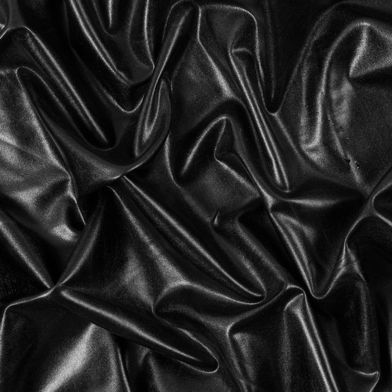 0e10829406a Black All Over Metallic Stretch Faux Pleather Jersey