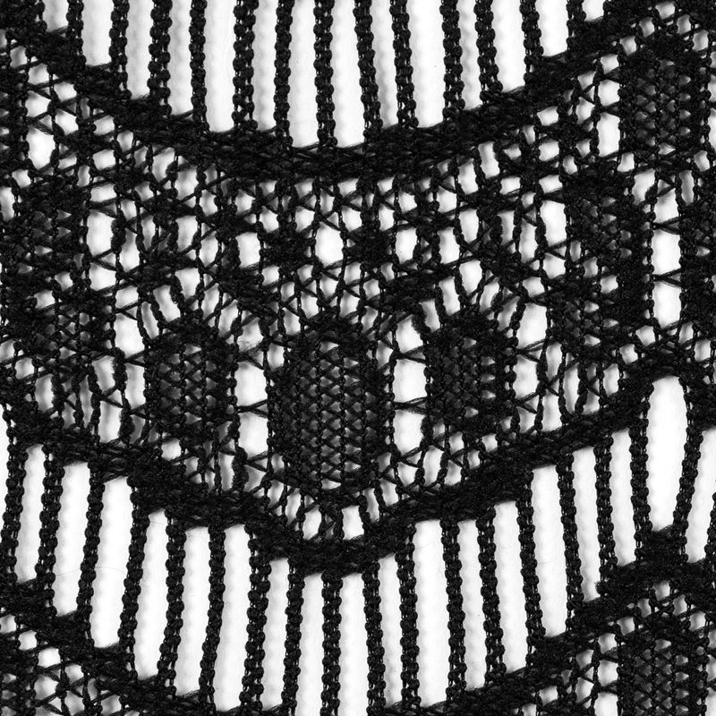 Black Crochet Lace with Eyelash and All-over Scallop Design - Detail