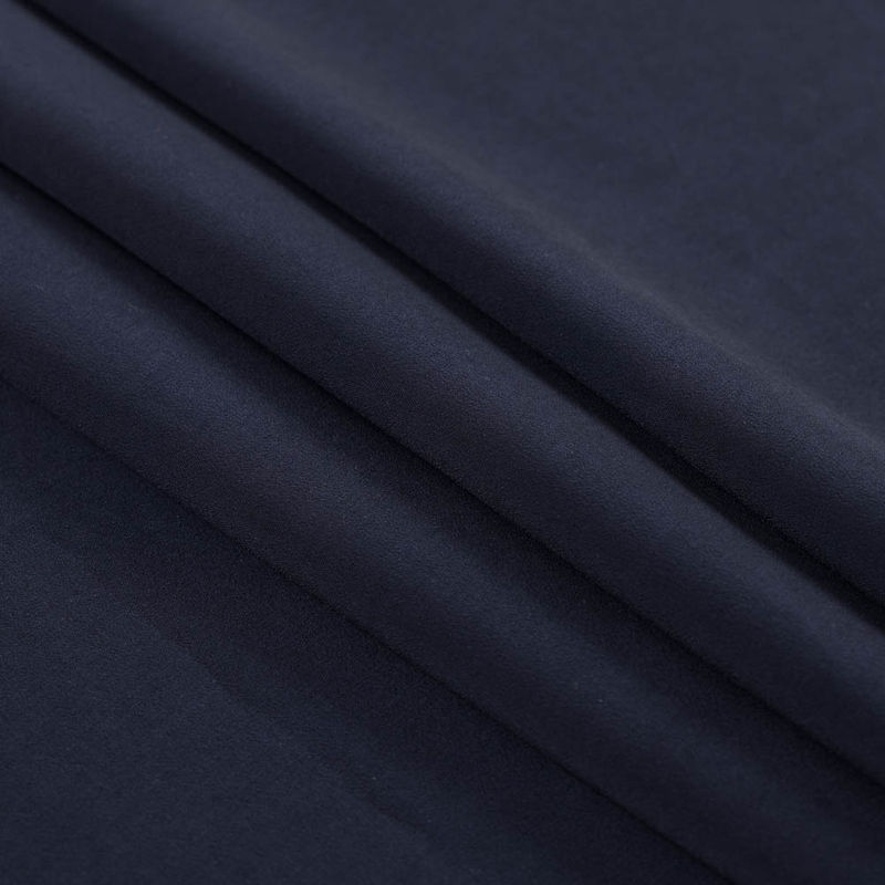 Dark Navy Stretch Double Faced Vicose Suiting - Folded