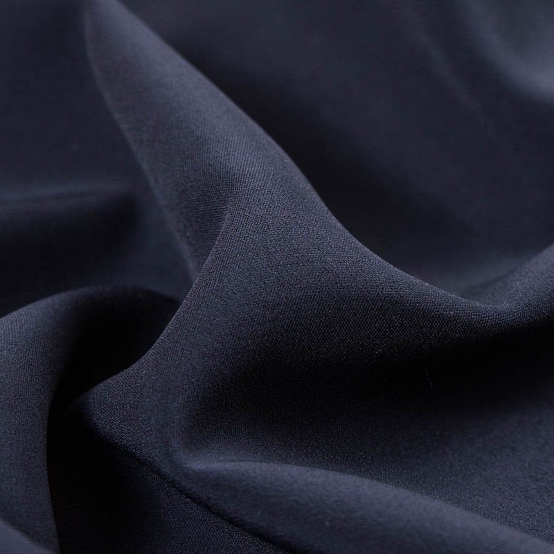 Dark Navy Stretch Double Faced Vicose Suiting - Detail