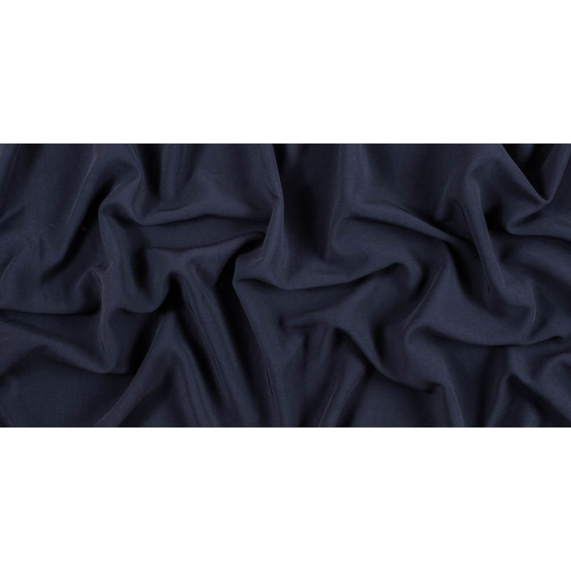 Dark Navy Stretch Double Faced Vicose Suiting - Full