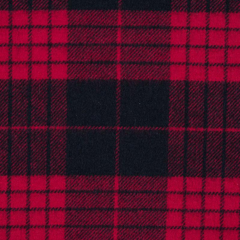 Lollipop and Black Tartan Plaid Cotton Flannel - Detail