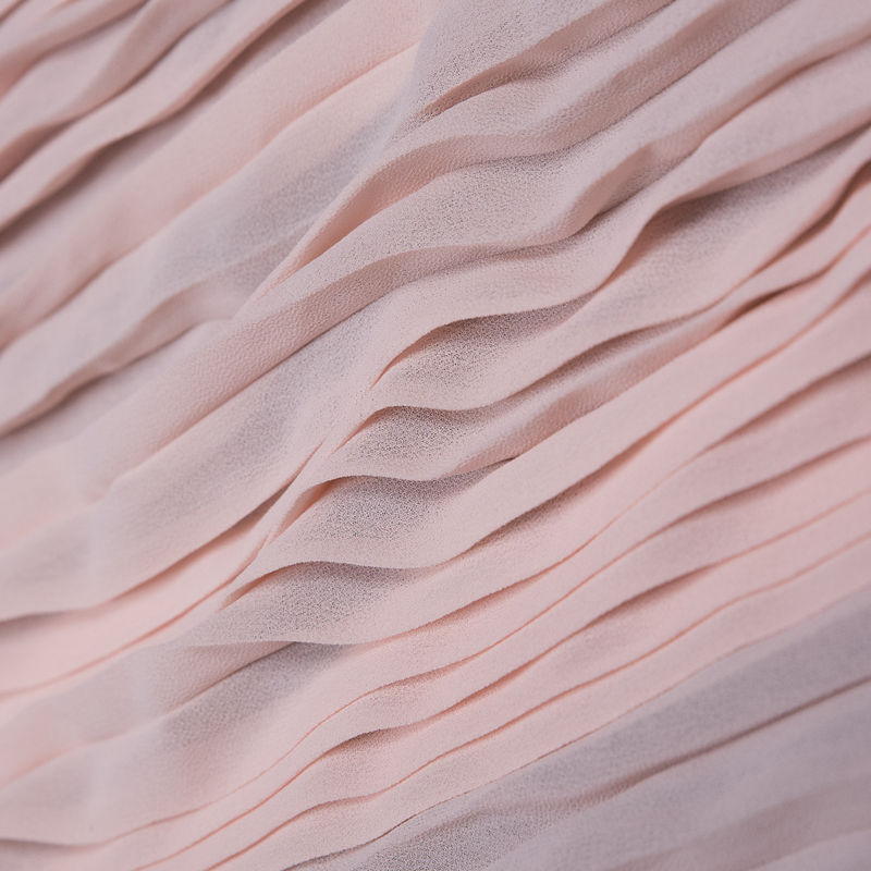 Rose Shadow Accordion Pleated Chiffon - Folded