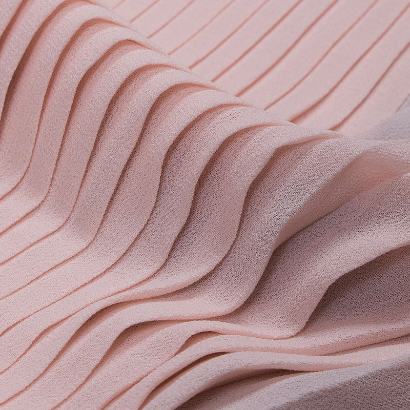 Rose Shadow Accordion Pleated Chiffon - Detail