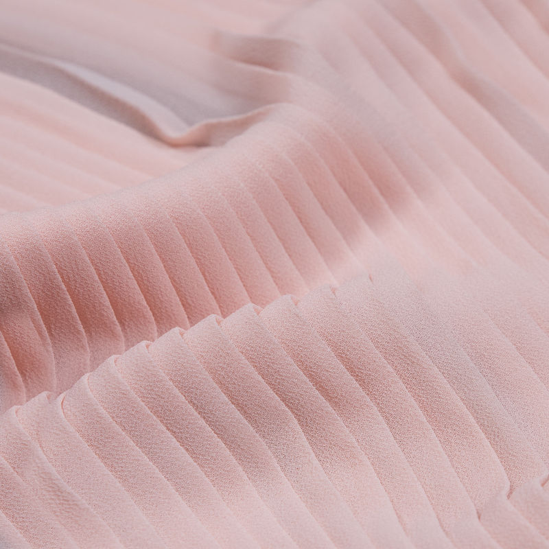 Rose Shadow Accordion Pleated Chiffon