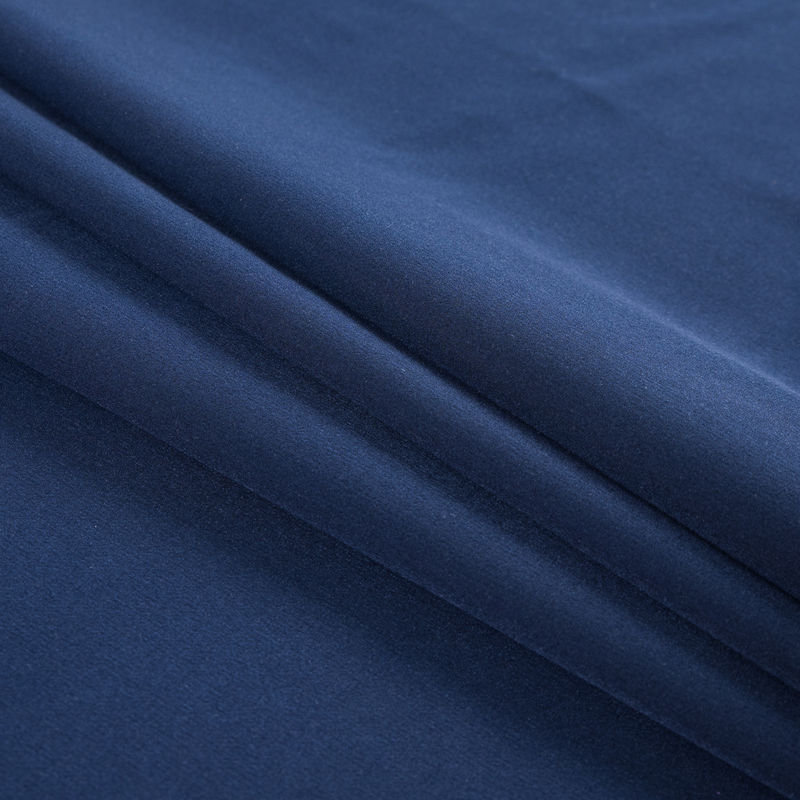 Navy Stretch Polyester Double Cloth - Folded