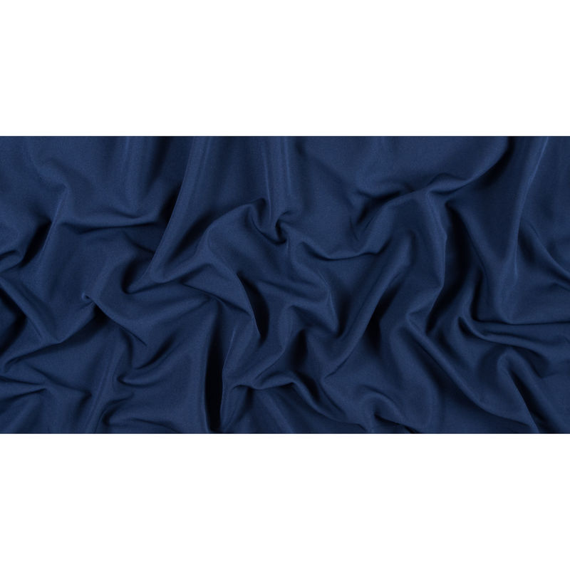 Navy Stretch Polyester Double Cloth - Full