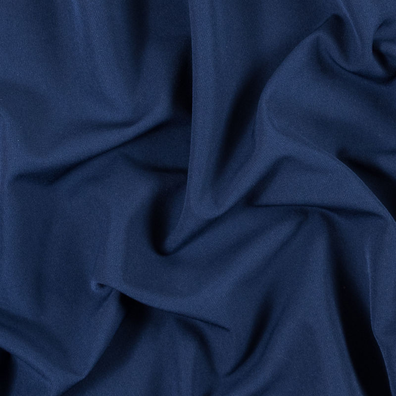 Navy Stretch Polyester Double Cloth