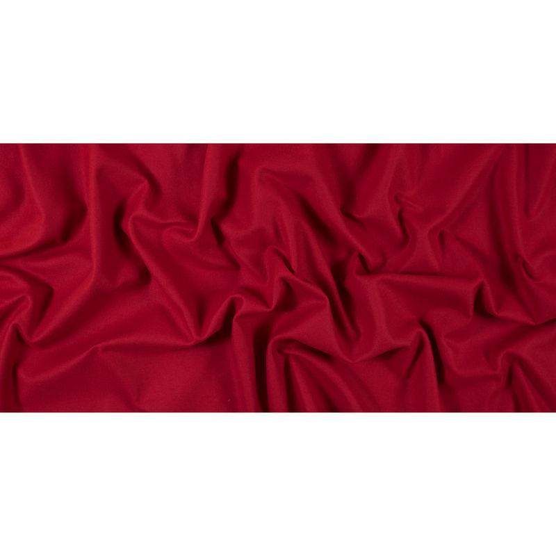 Ribbon Red Brushed Wool Twill Coating - Full