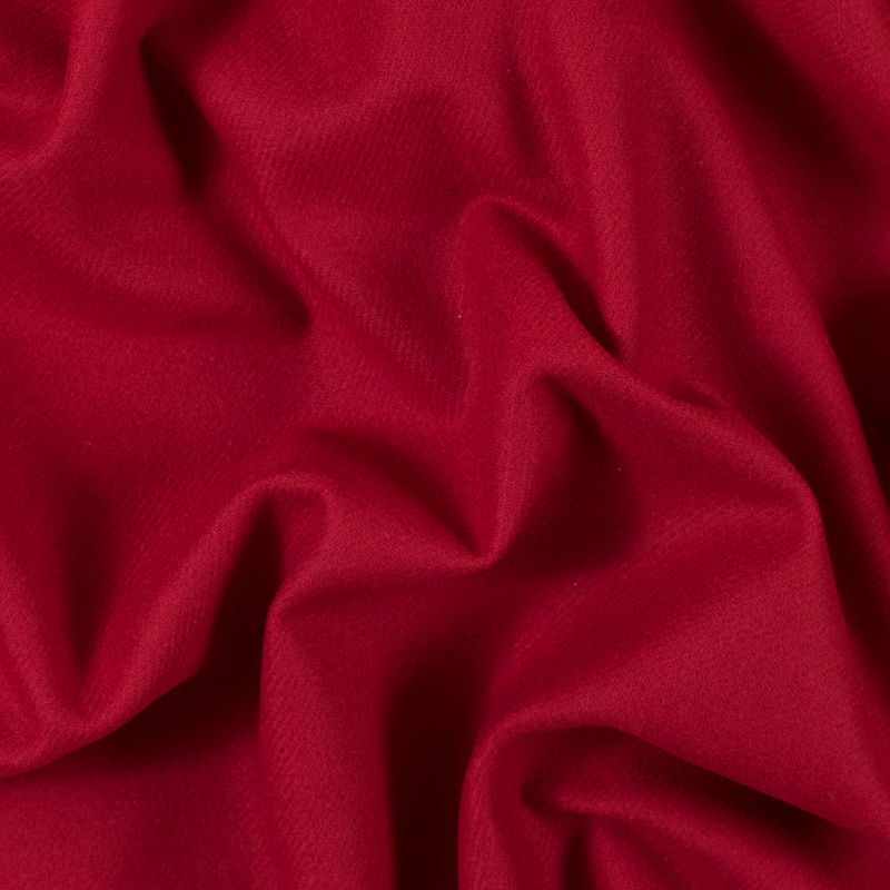 Ribbon Red Brushed Wool Twill Coating
