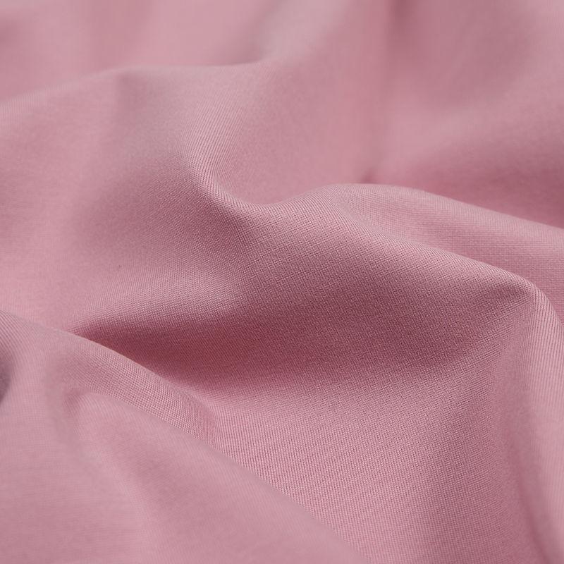 Dusty Rose Stretch Ponte Knit - Detail