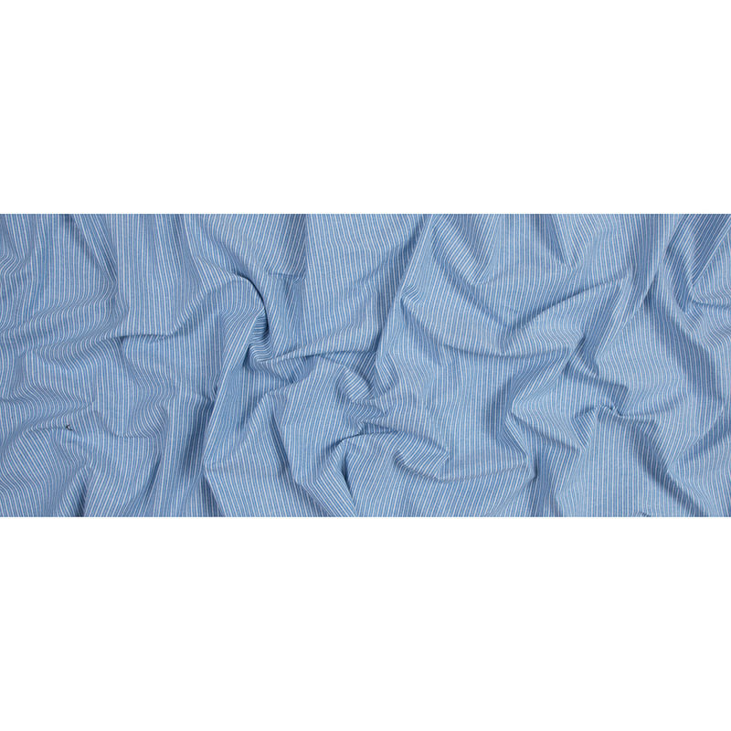 Blue Sky Striped Cotton Chambray - Full