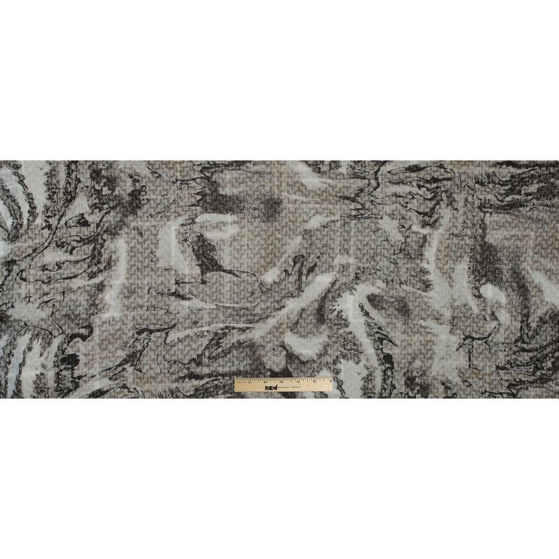 Italian Warm Gray Abstract Wool Sweater Knit - Full