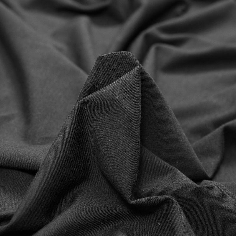Black Stretch Rayon Jersey - Detail