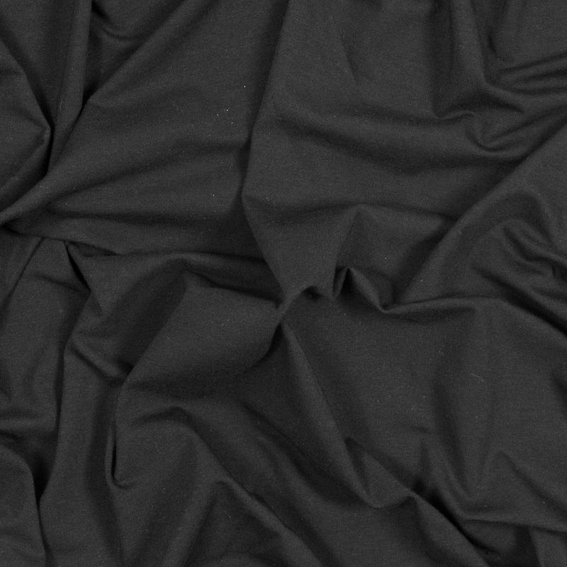 Black Stretch Rayon Jersey
