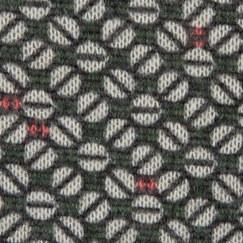 Italian Green and Pink Geometric Sweater Knit - Detail