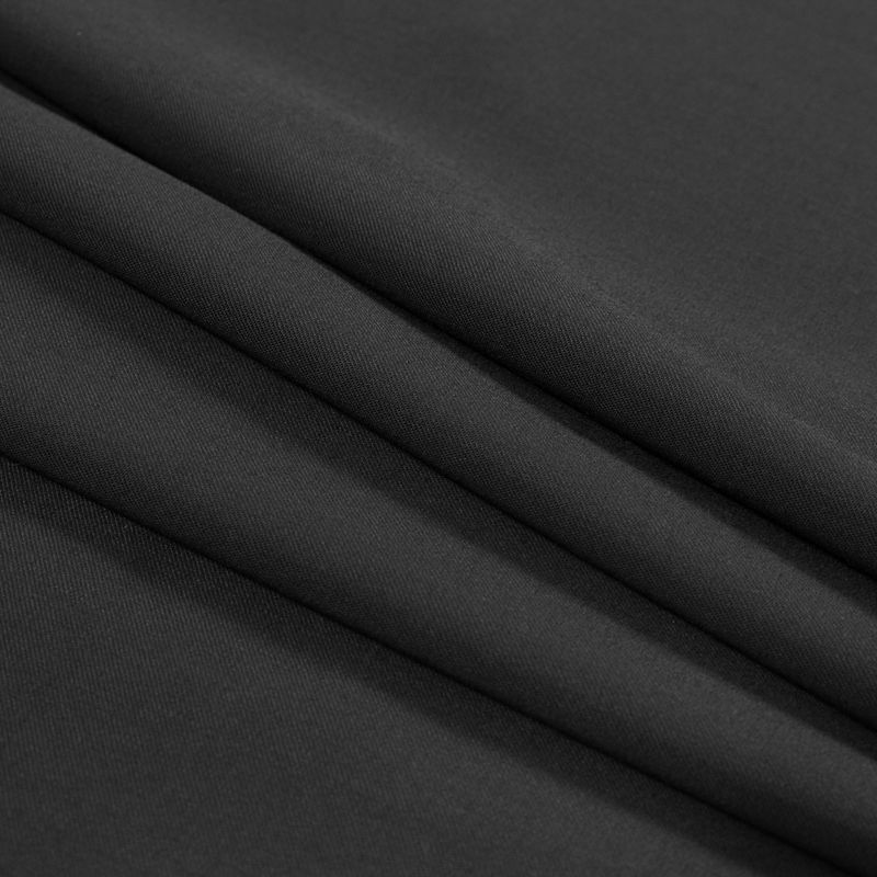 Black Stretch Wool Garbardine - Folded