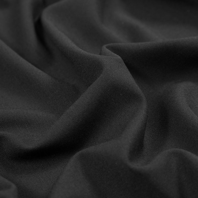 Black Stretch Wool Garbardine - Detail