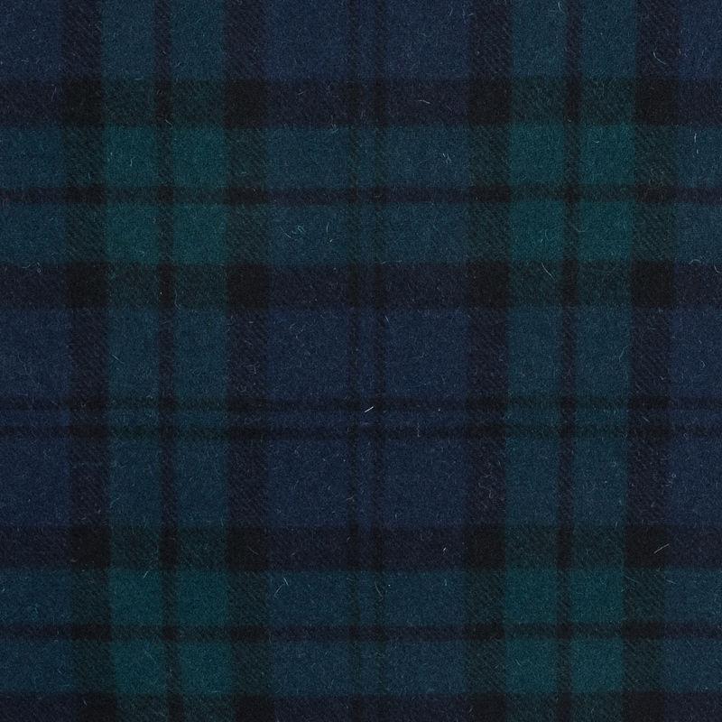 dcb498548a Black Watch Plaid Wool Twill Coating