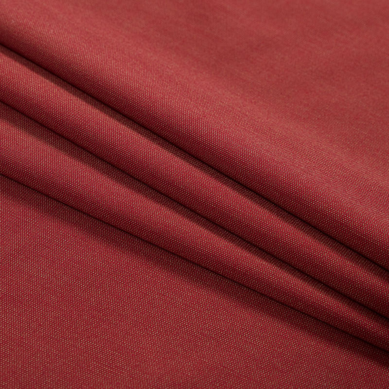 Red and Green Stretch Polyester Woven - Folded