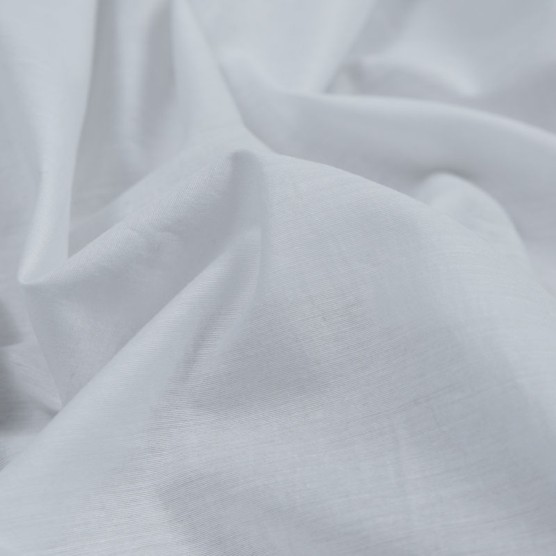 Helmut Lang Optic White Tissue Weight Cotton Poplin - Detail