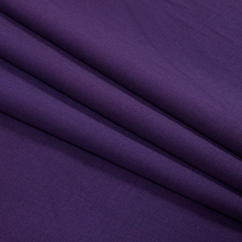 Majesty Purple Stretch Twill Wool Suiting - Folded
