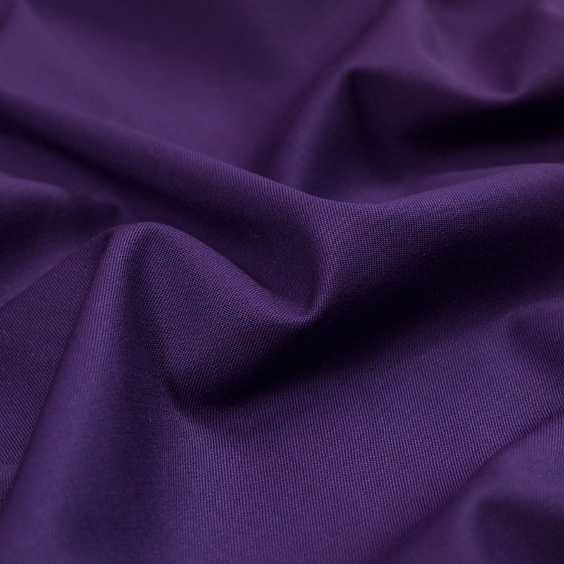 Majesty Purple Stretch Twill Wool Suiting - Detail
