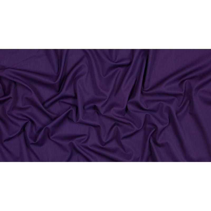 Majesty Purple Stretch Twill Wool Suiting - Full