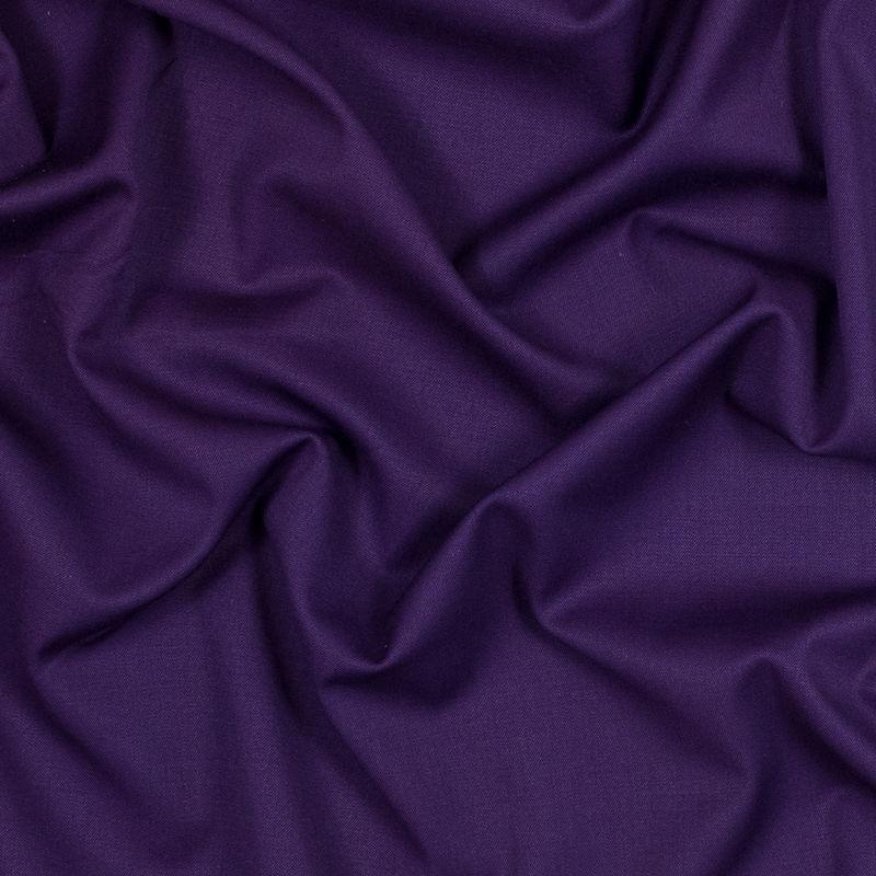 Majesty Purple Stretch Twill Wool Suiting