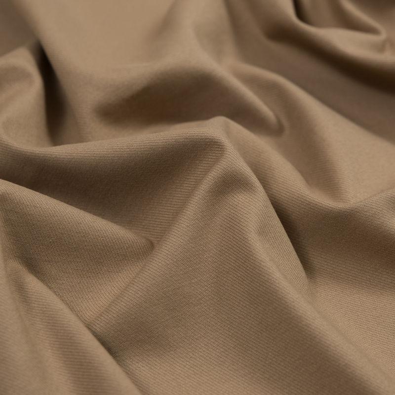 Warm Beige Brushed Stretch Cotton Twill - Detail