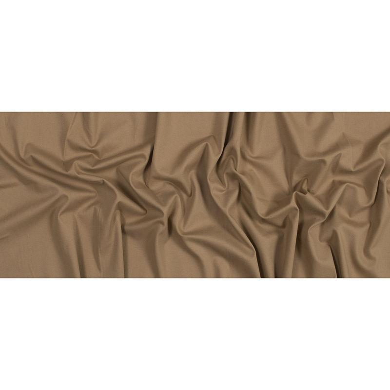 Warm Beige Brushed Stretch Cotton Twill - Full