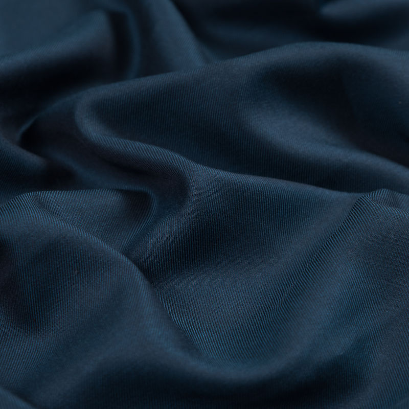 Oceanic Blue Tencel and Wool Twill - Detail