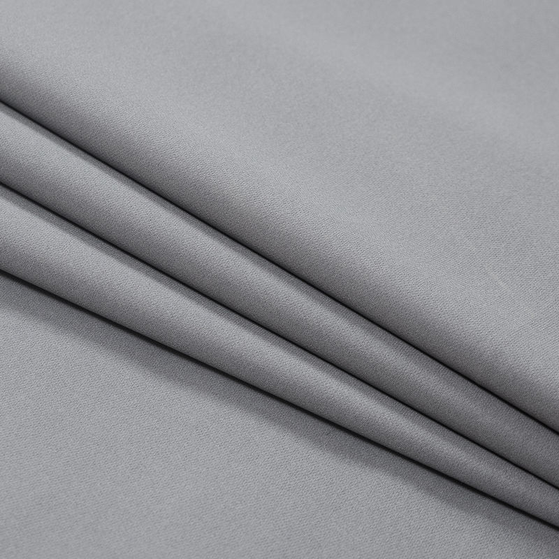 Cool Gray Stretch Polyester Twill - Folded