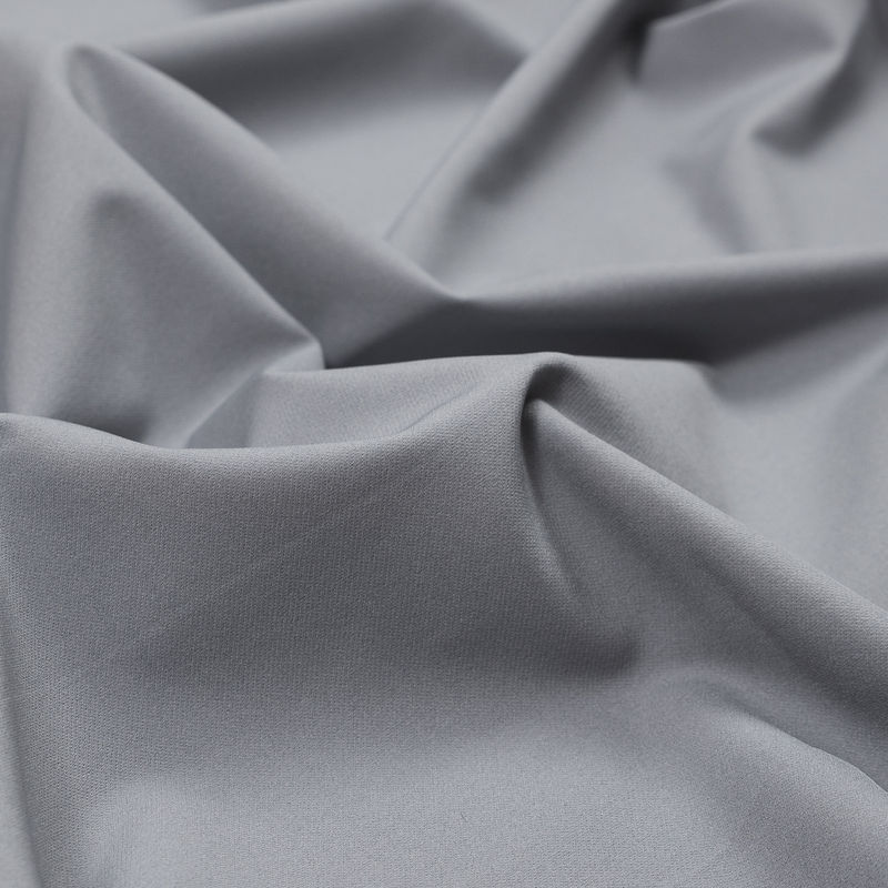 Cool Gray Stretch Polyester Twill - Detail