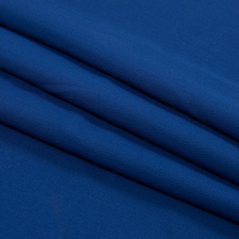 Oscar de la Renta Royal Blue Wool and Rayon Stretch Twill - Folded