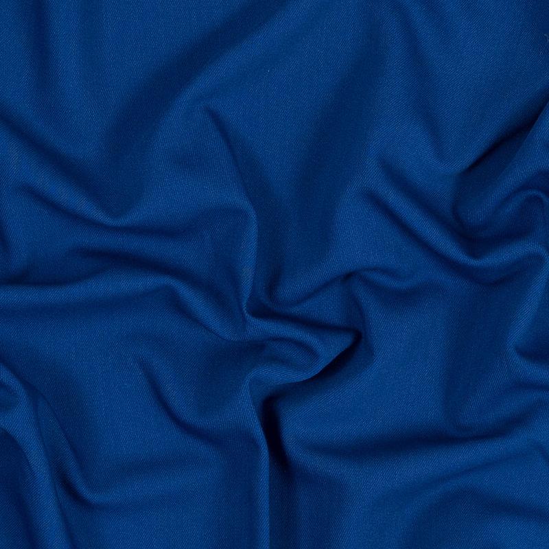 Oscar de la Renta Royal Blue Wool and Rayon Stretch Twill