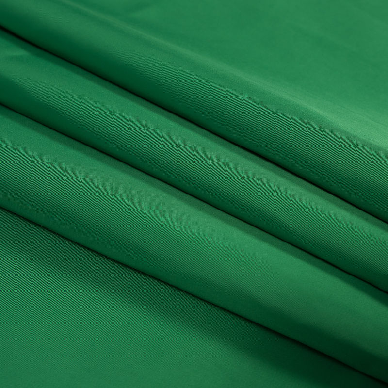 Grass Green Water-Resistant Polyester Twill - Folded