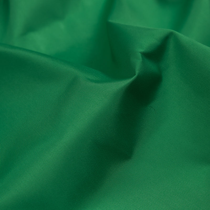 Grass Green Water-Resistant Polyester Twill - Detail