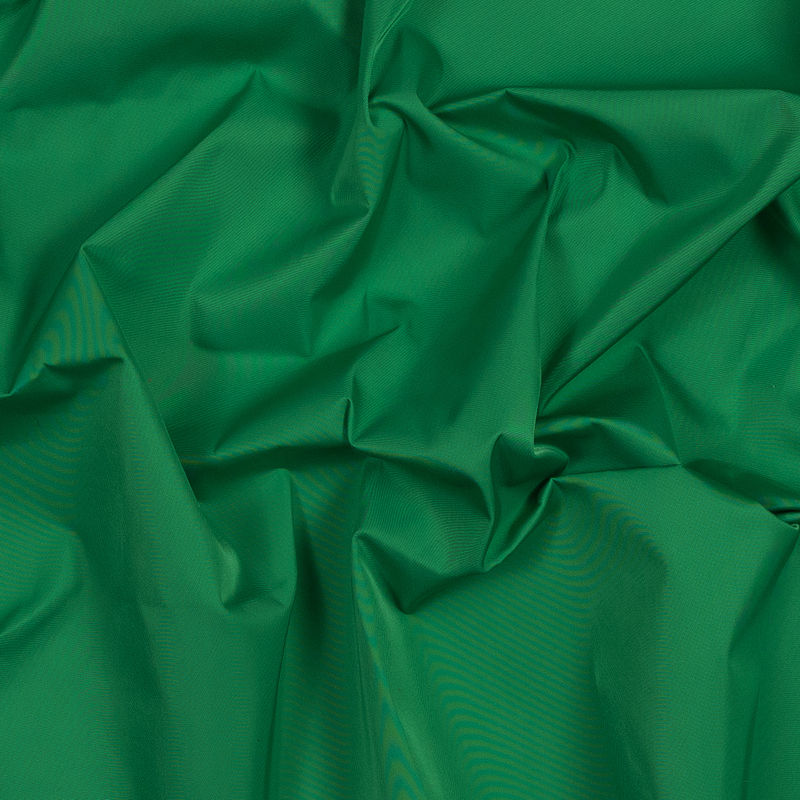 Grass Green Water-Resistant Polyester Twill