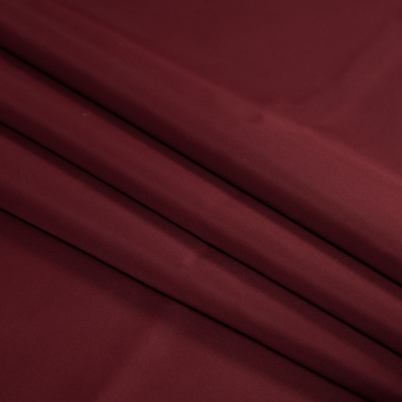 Cranberry Water-Resistant Polyester Twill - Folded