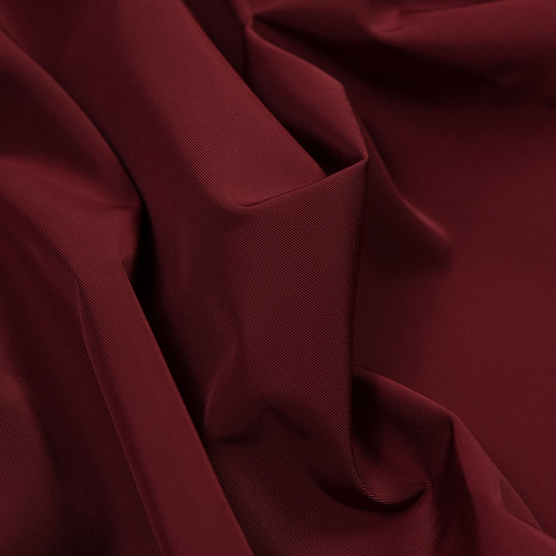 Cranberry Water-Resistant Polyester Twill - Detail