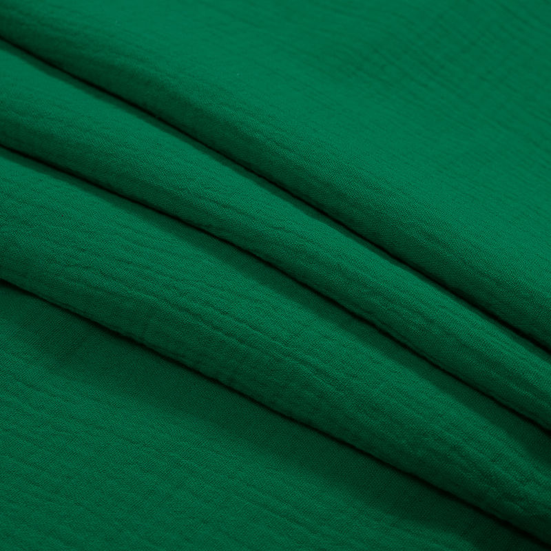 Kelly Green Double Cotton Gauze - Folded