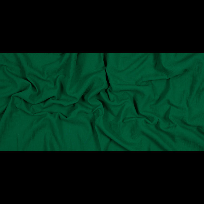 Kelly Green Double Cotton Gauze - Full