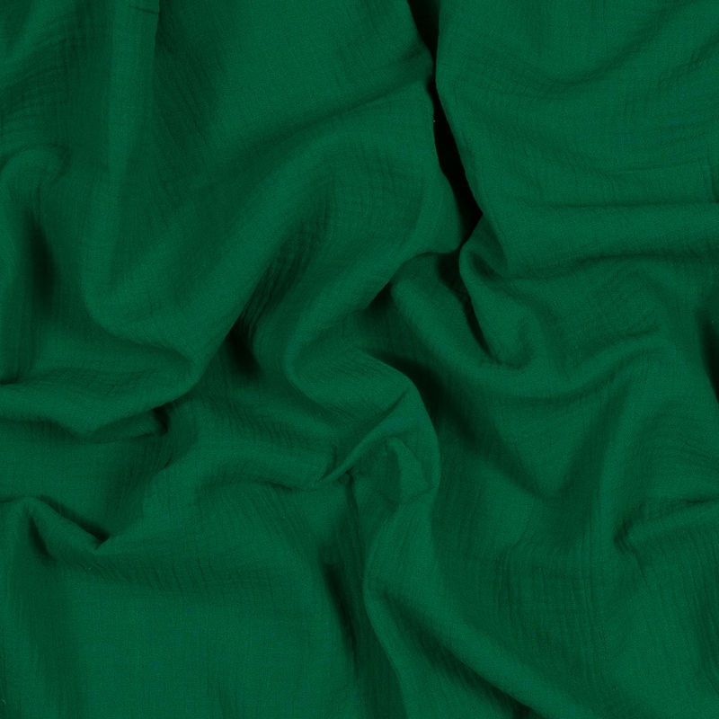 Kelly Green Double Cotton Gauze
