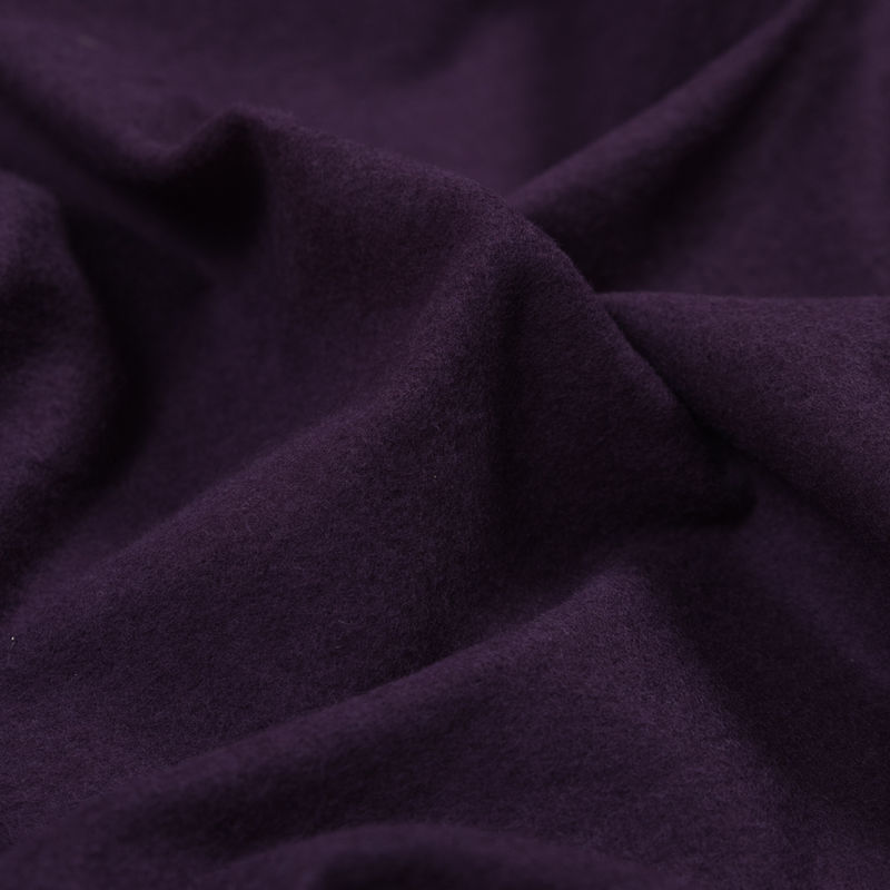 Plum Bamboo and Cotton Stretch Knit Fleece - Detail