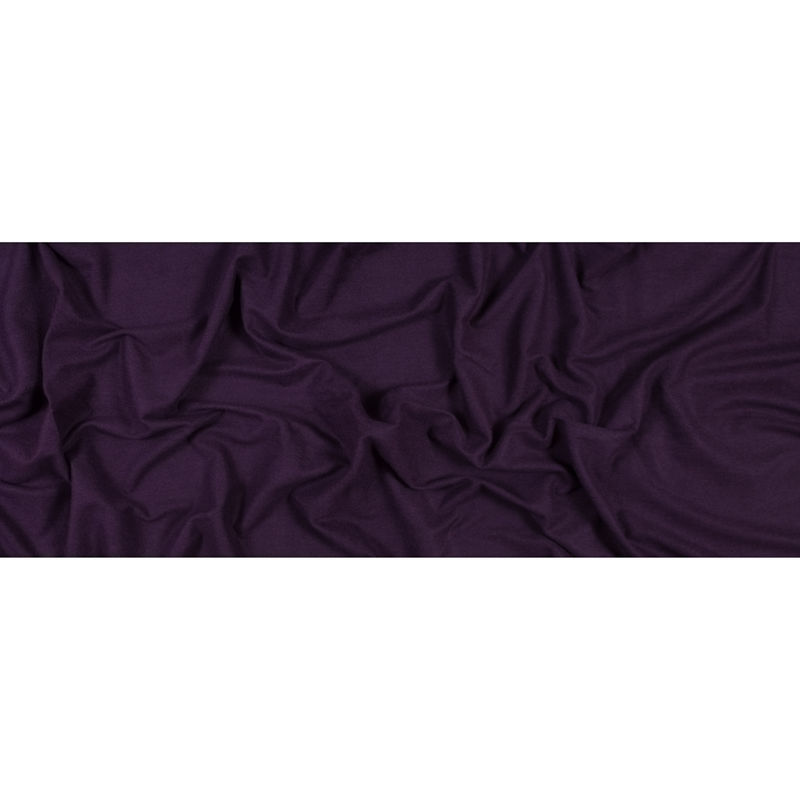 Plum Bamboo and Cotton Stretch Knit Fleece - Full