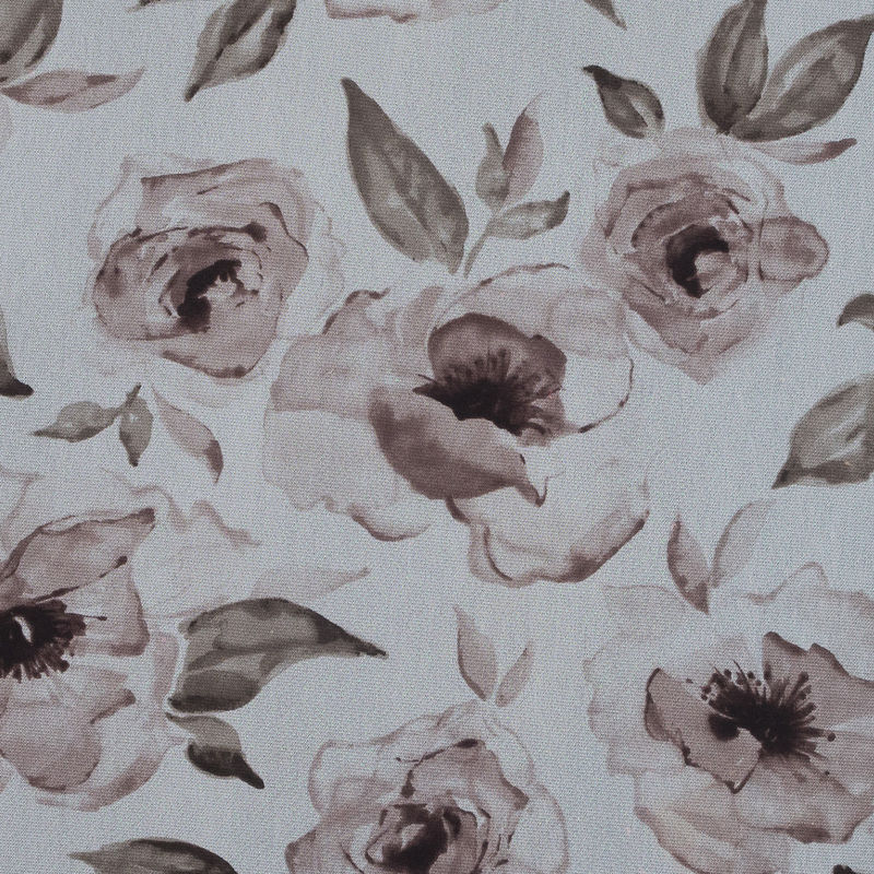 Beige Rose Printed Polyester Mesh