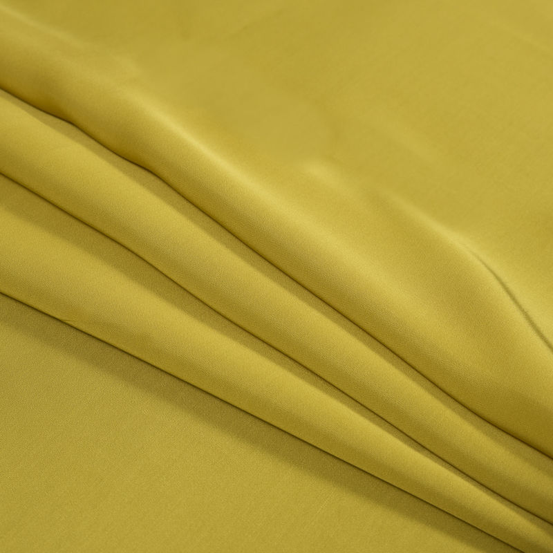 Yellow Satin-Faced Twill Lining - Folded
