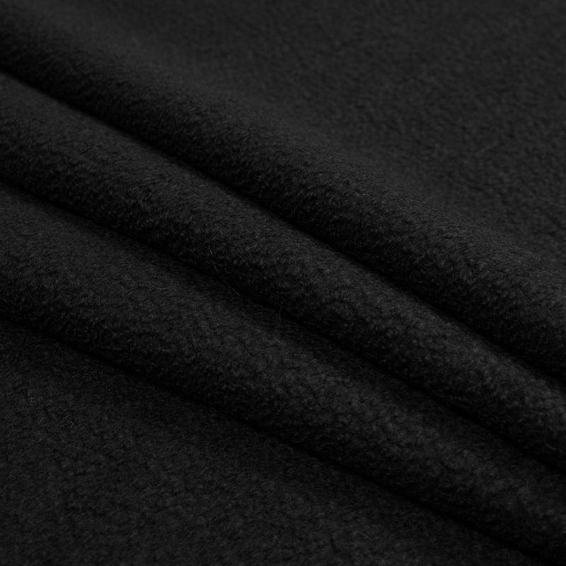 Black Chunky Knit Wool Boucle - Folded