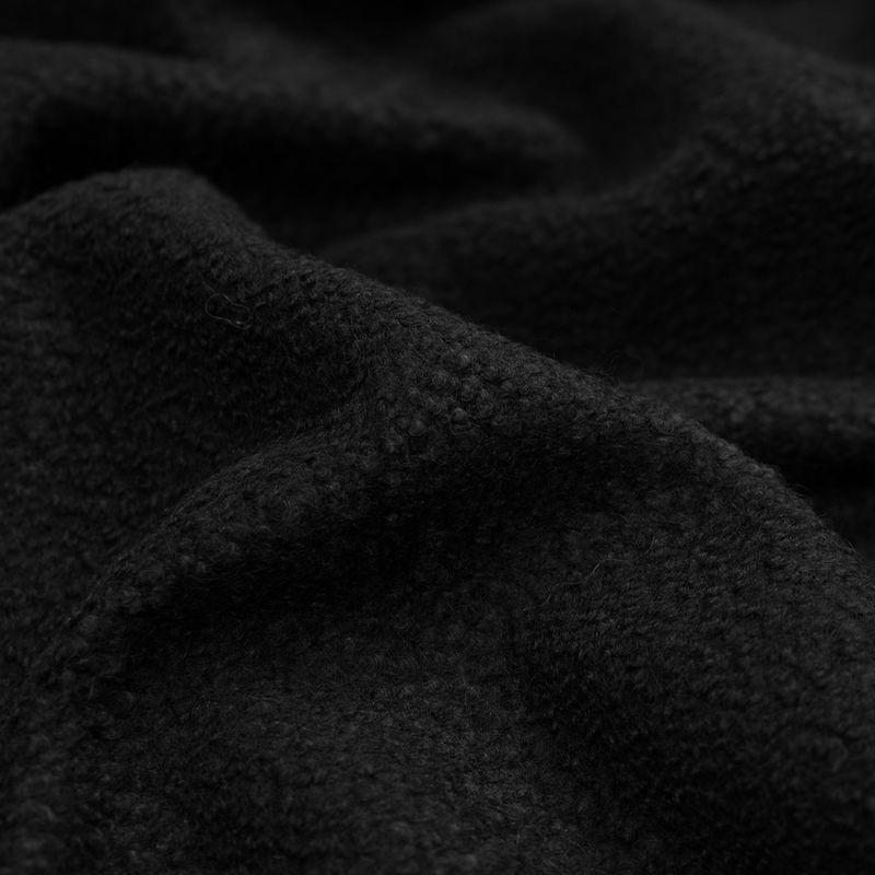 Black Chunky Knit Wool Boucle - Detail